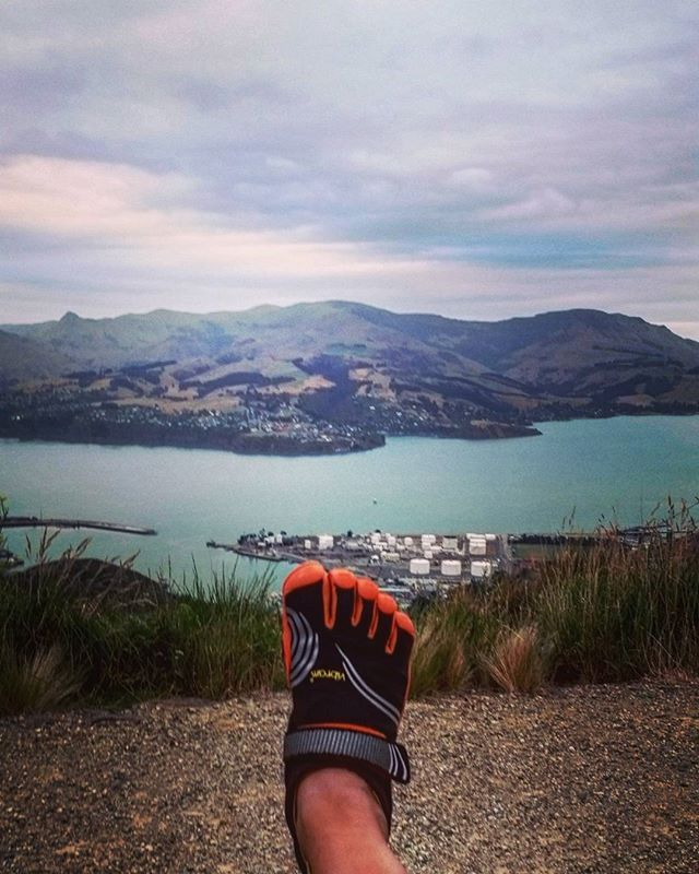Taking a hike around Lyttleton after work - the views are amazing and such a great place to go after a long day at work #newzealand #southisland #christchurch #travel #hiking