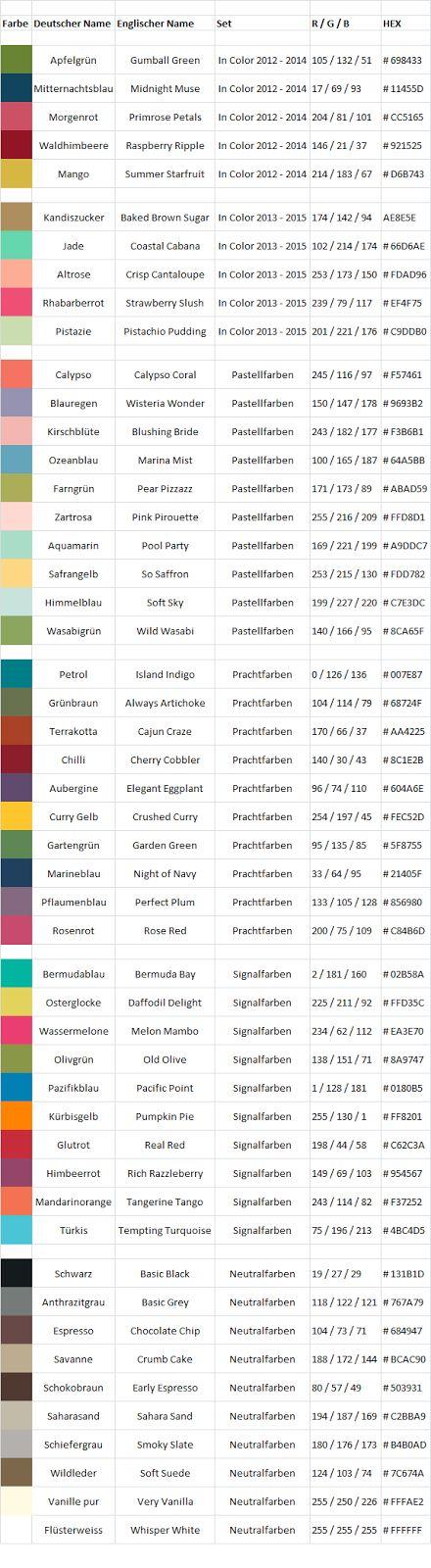 Aufstempeln!: Farbcodes