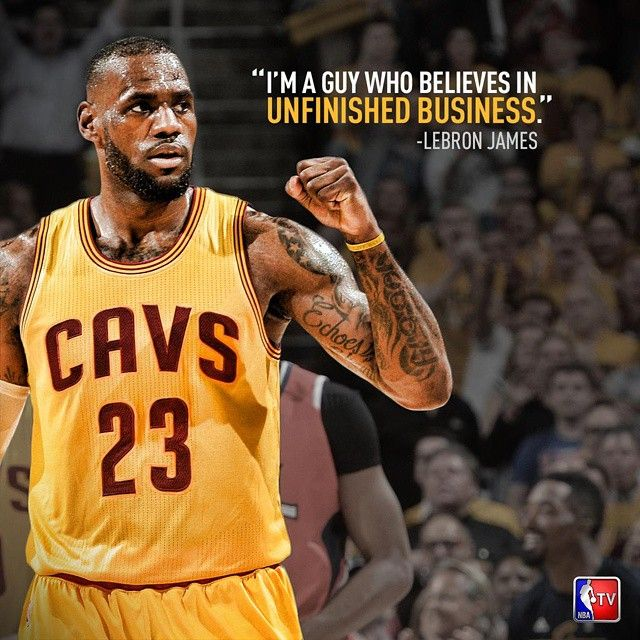 Wonder if this is a threat or a promise. GO CAVS!