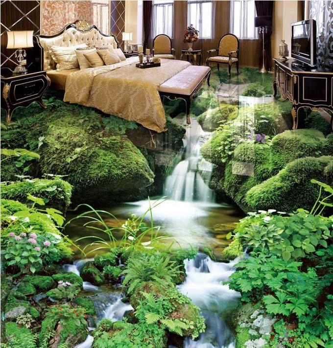 stream scenery 3D Wallpaper