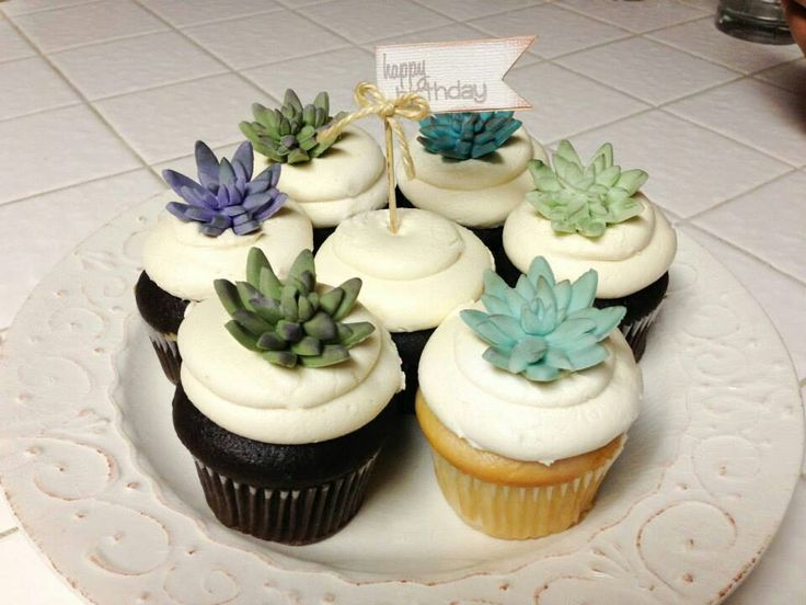 Succulent Cupcake Toppers Cupcakes Need I Say More