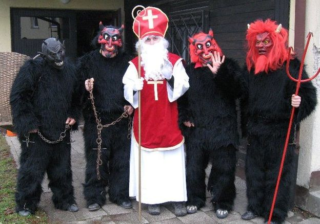 De duivel (parkelj), Sinterklaas (Sv. Miklavž)