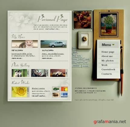 Красивый шаблон для сайта,блога от ТМ 8047