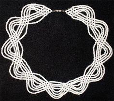 белое ожерелье   biser.info - всё о бисере и бисерном творчестве