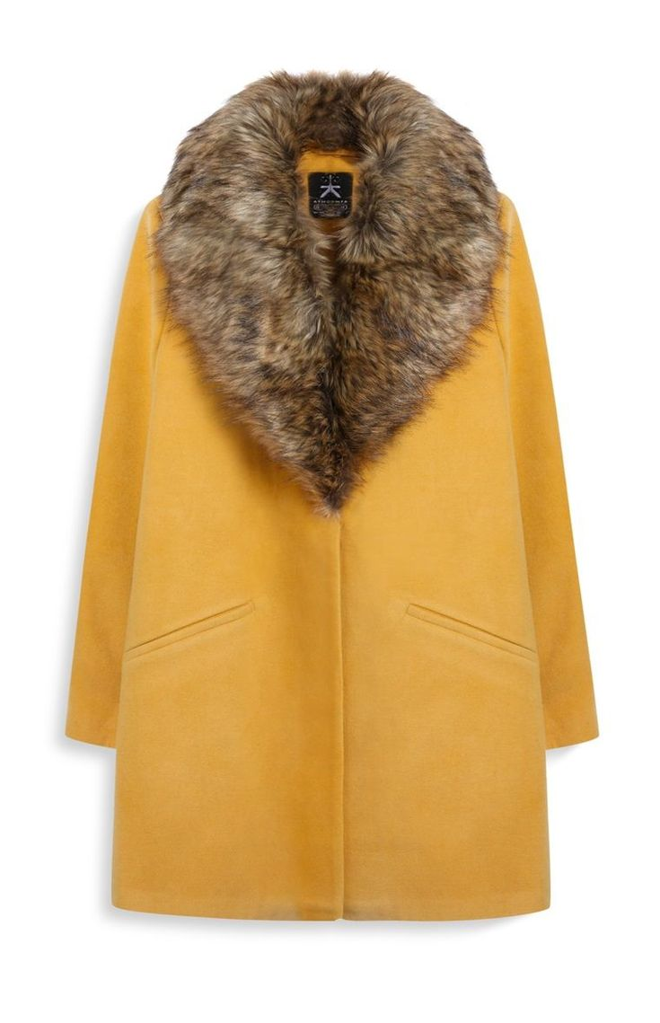 Primark Fur Collar Coat, $40, available at Primark. #refinery29 http://www.refinery29.com/best-winter-coats-fast-fashion#slide-16