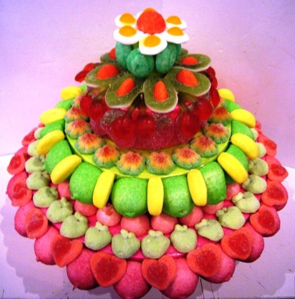 Tarta de chuches - Candy cake - Gateau de bonbons