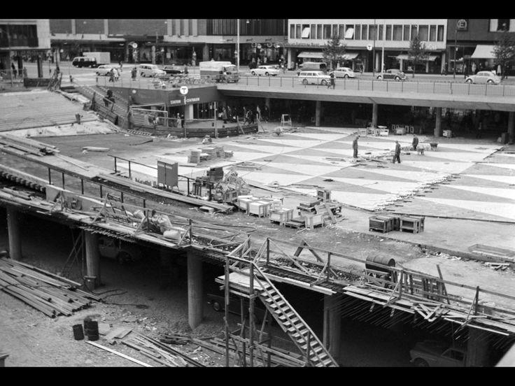 Sergels torg under uppbyggnad 1967