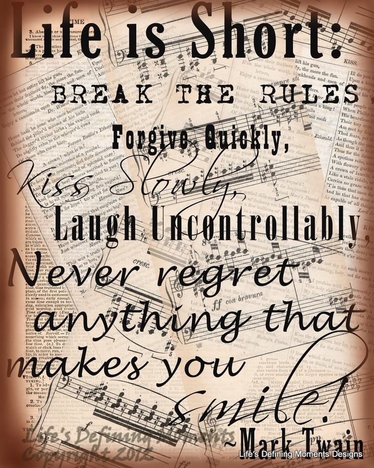 Never Regret Anything That Made You Smile Quote Tattoo: 57 Best Images About Mark Twain Quotes On Pinterest