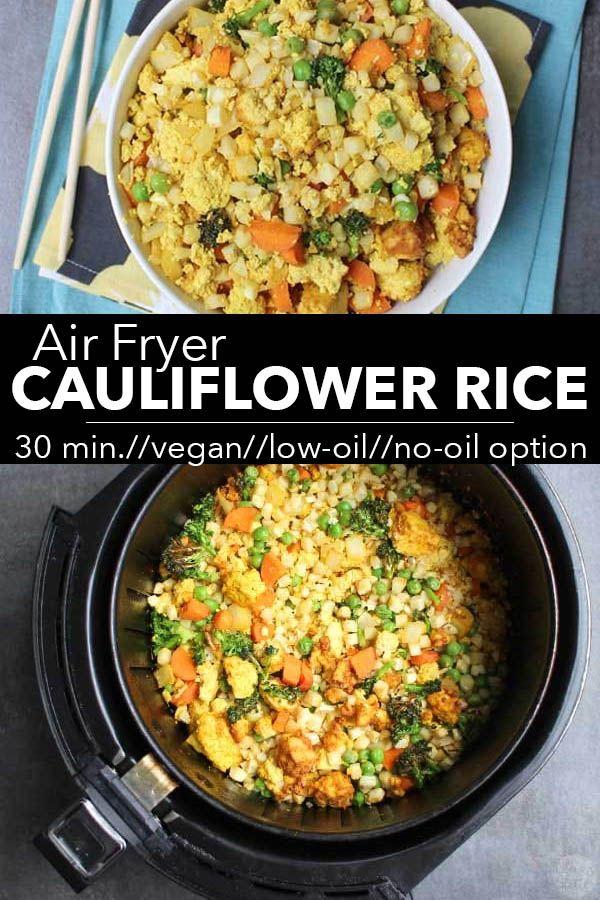 Air Fried Cauliflower Rice Recipe Air fryer recipes