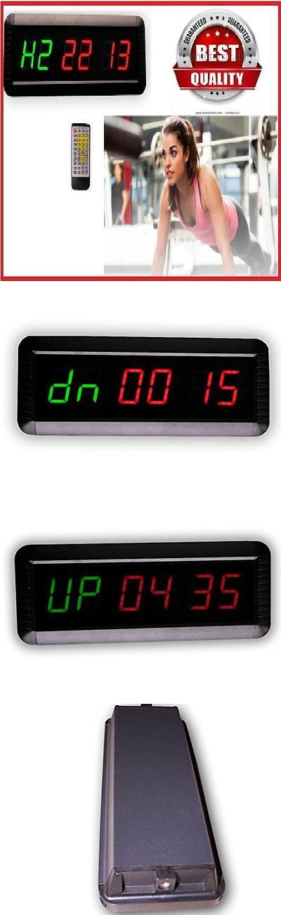 Other Fitness Running and Yoga 13362: Interval Timer Watch Wall Large Clock Gym Crossfit Training Stop Remote Control -> BUY IT NOW ONLY: $79.11 on eBay!