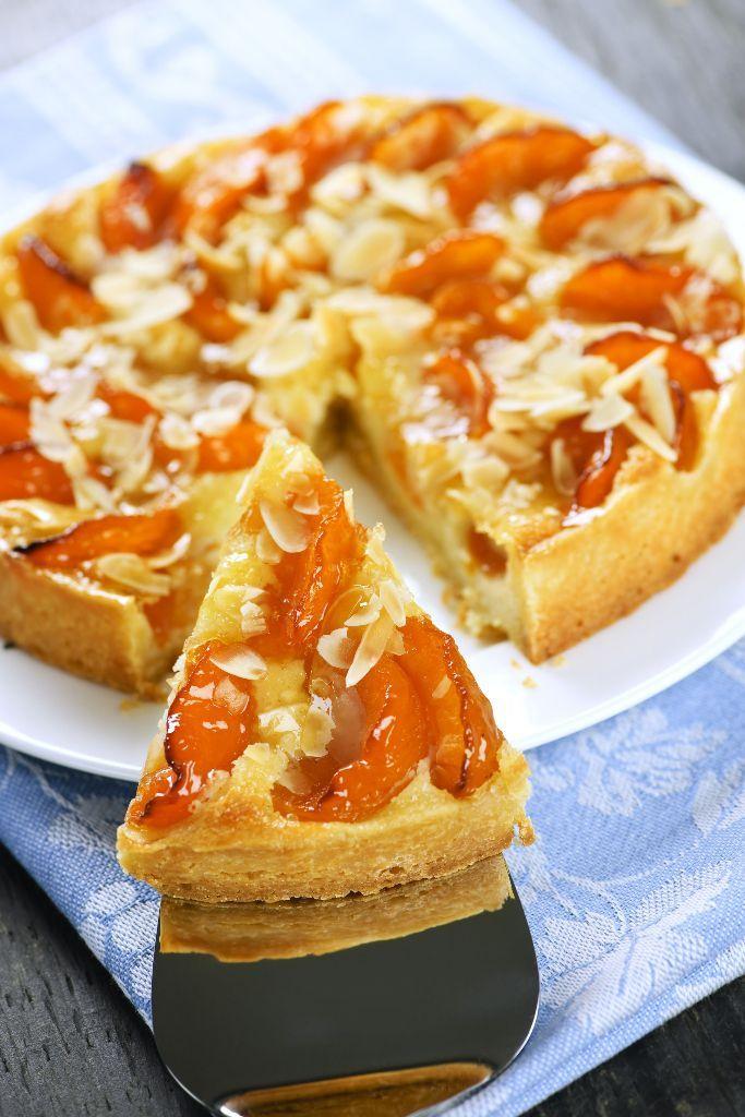 Marhuľový koláč s mandľami
