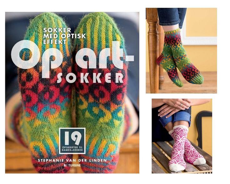 Op art sokker - Stephanie van der Linden - Strikkebog