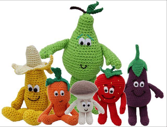 Alle haakpatronen van deze leuke fruitjes! Deel 1 t/m 13 | vitaminis | lidl | haakpatronen vitaminis lidl