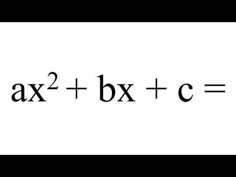 ¿Cómo resolver una ecuación de segundo grado o cuadrática?