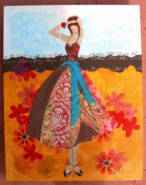 Julie Nutting art Collage art projects, Art, Kids art