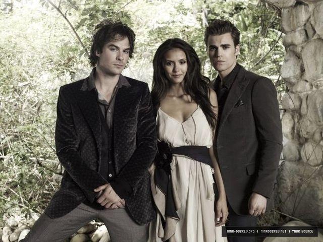 Damon Ian And Elena Nina And Stefan Paul Vampire Diaries Seasons Vampire Diaries Season 2 Vampire Diaries