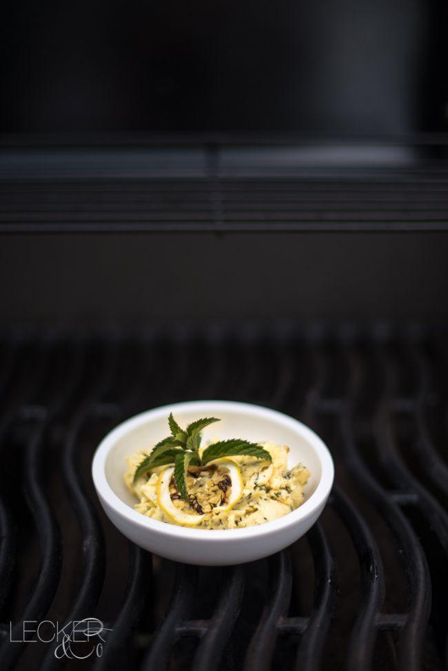 Zitrone-Minz-Butter | Kräuterbutter zum Grillen