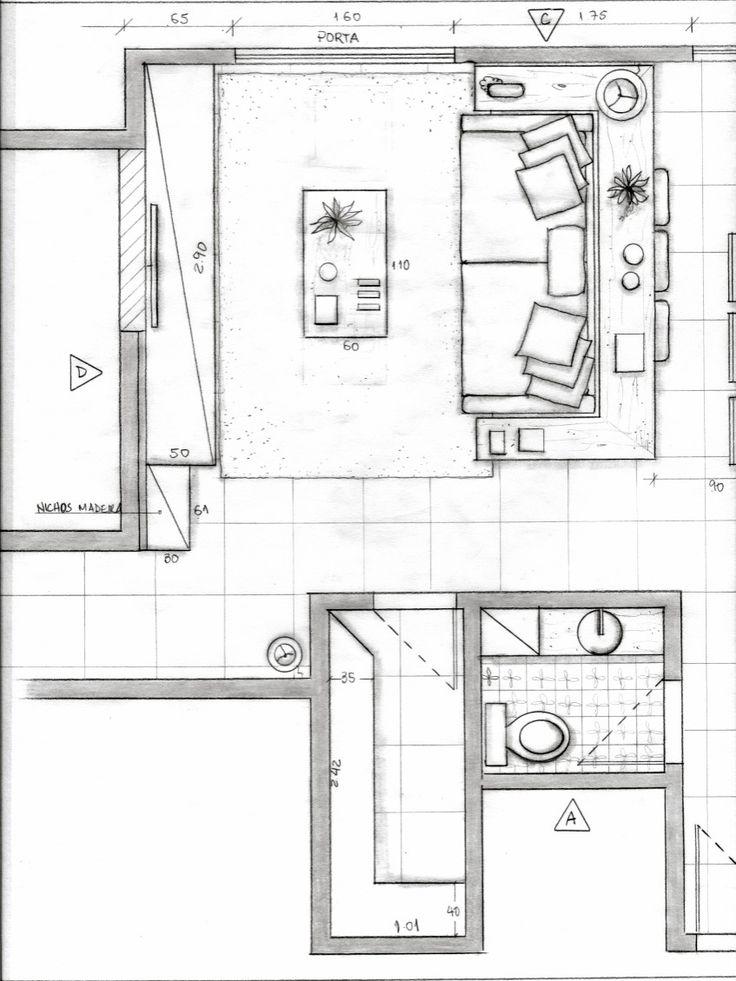 Sala De Tv Planta Baixa ~ Sala Estar Planta Baixa  projeto Ana Lucia Nunes  Architecture