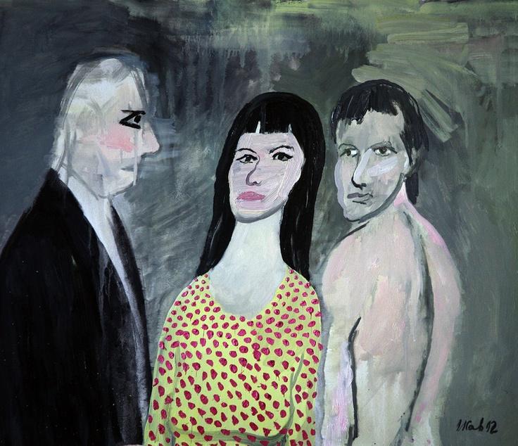 "Saatchi Online Artist: Ilian Savkov; Oil, 2012, Painting ""The Conversation"""