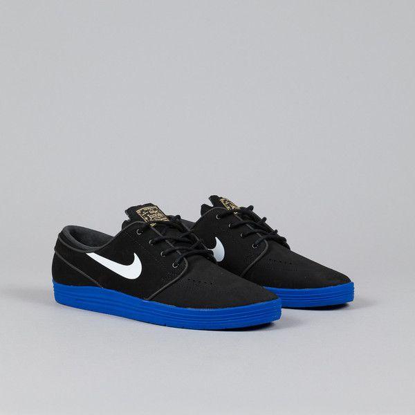 sports shoes ee6b2 a8d99 Nike SB Lunar Stefan Janoski Black   White - Game Royal   FOOTWEAR   Nike  shoes, Nike shoes cheap, Nike shoes usa