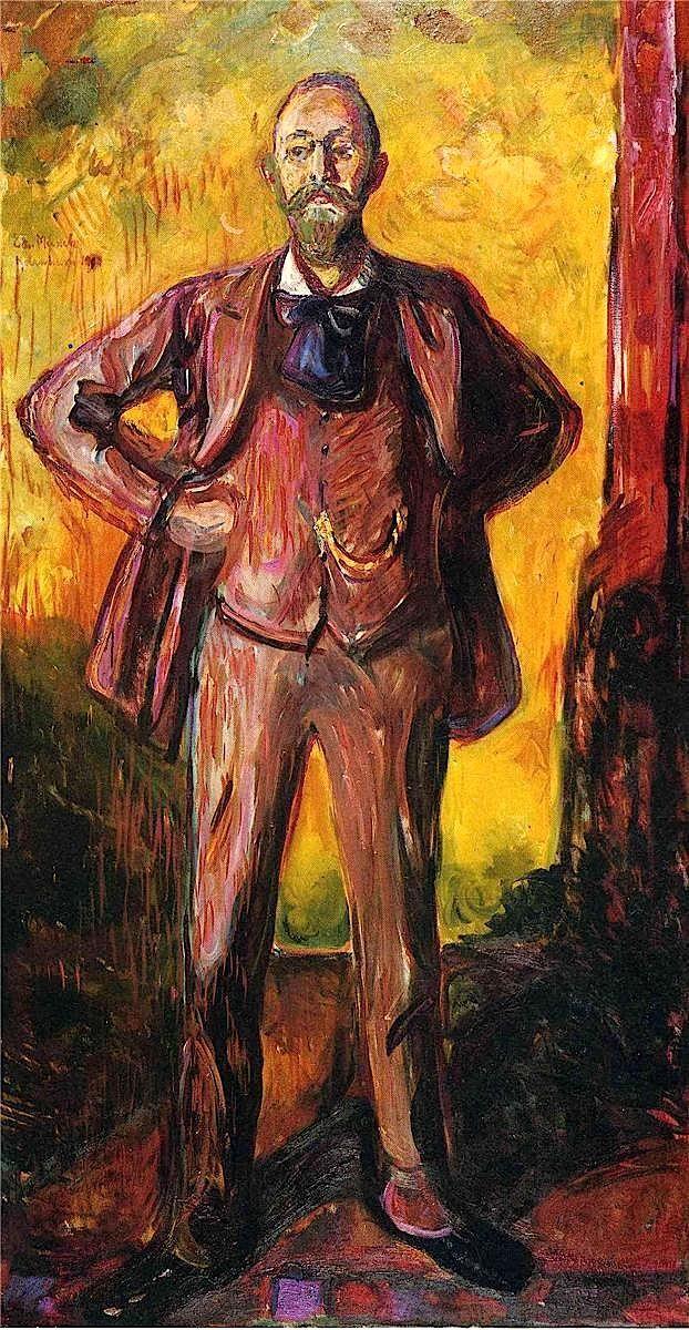 Professor Daniel Jacobson, 1909,  Edvard Munch