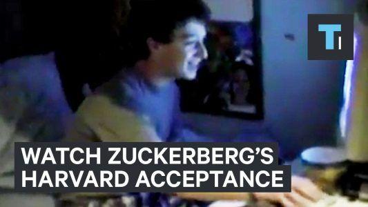 Watch Mark Zuckerberg discover he was accepted to Harvard #news #alternativenews