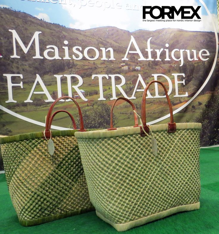 #Formex 2015 Fairtrade baskets handcrafted of grass and palmleaves.