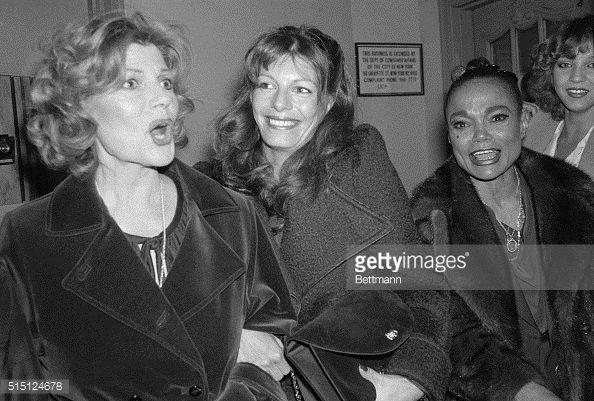 rita hayworth daughters   Rita Hayworth and daughter Yasmin Kahn with Eartha Kitt in the lobby ...