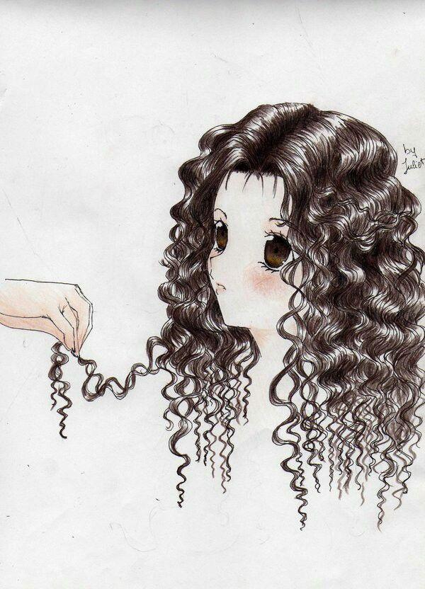 30 Long Curly Female Manga Hairstyles Hairstyles Ideas Walk The