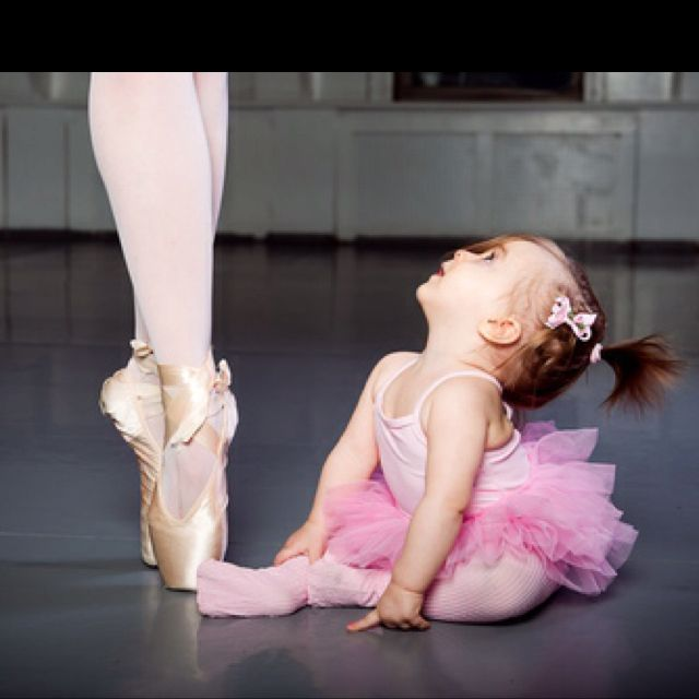 I love this little ballerina looking up to the pro. What a sweet expression and…