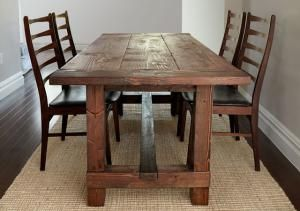 Build Your Own Farmhouse Table With These Free Easy to Follow Plans: Free Farmhouse Table Plan at Popular Mechanics