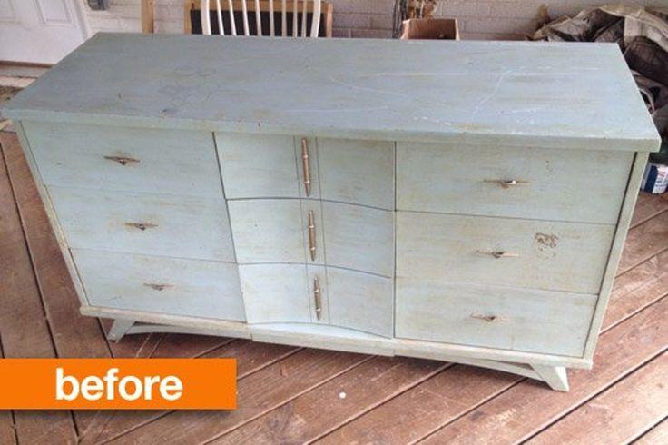 Before & After: Vintage Dresser Strips Down
