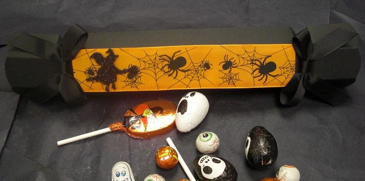 Happy Halloween! Our Celebration crackers decorated with ribbon from Berisfords.
