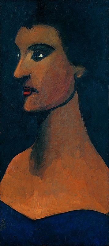 Jerzy Nowosielski, Portret żony artysty, 1945 r. DESA Unicum auction house, March 7, 2013