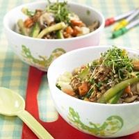 Asia-Gemüse mit Dinkel