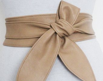 Tan cuero Tulip atar Obi cinturón l Obi corsé de la correa | Marco correa del lazo | Correa de cintura | Corset cinturón | Más cinturones de tamaño