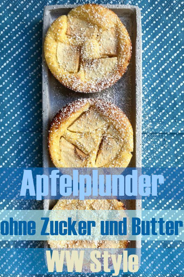 Apfelplunder ohne Butter und Zucker