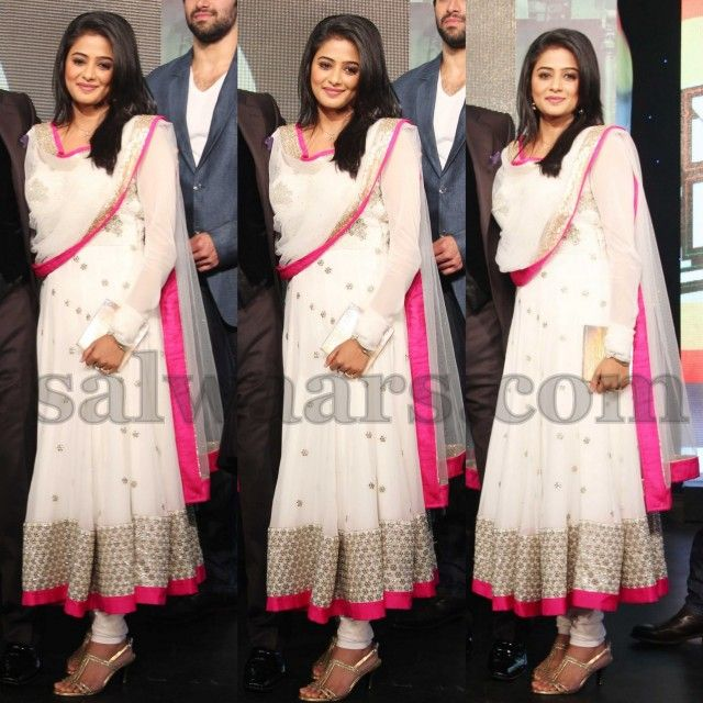 Priyamani Latest Anarkali Patterned Salwar
