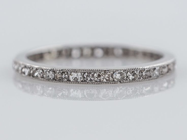 Antique Eternity Wedding Band Art Deco .57ct Single Cut Diamonds in Platinum. Minneapolis, MN.
