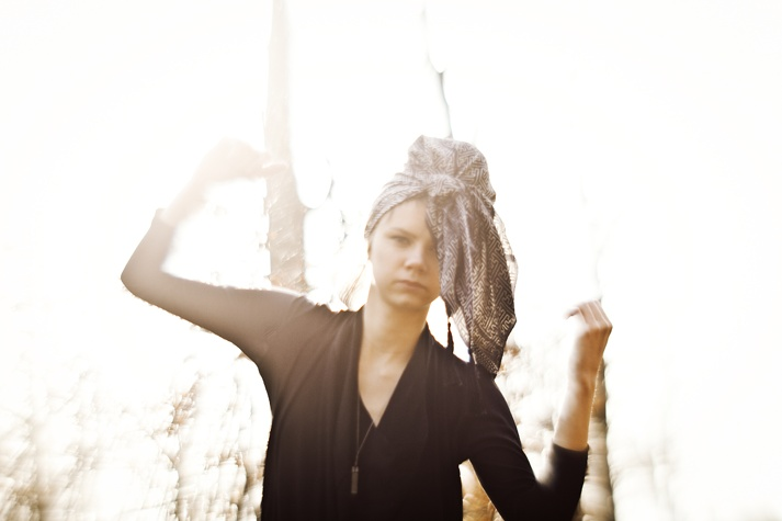 Shadows of Light. Dress and scarf by Tibbe Smith.