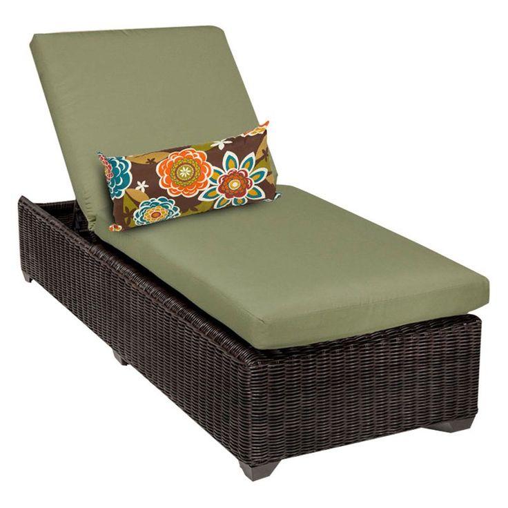 TK Classics Venice Outdoor Chaise Lounge - Set of 2 Cushion Covers Cilantro - VENICE-1X-CILANTRO