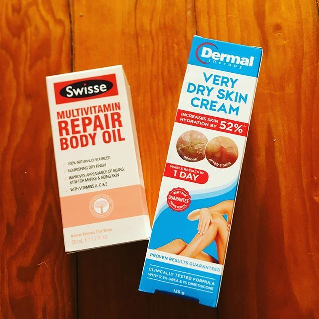 Great products for dry skin Multi vitamin repair body oil and very dry skin cream