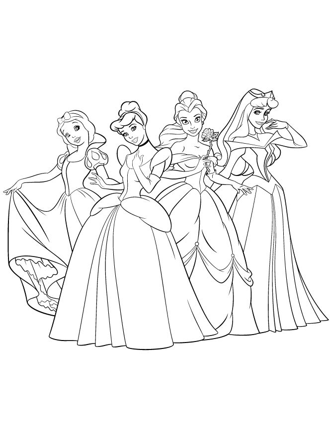 Princesses Coloring Pages Printable Gianfreda 43556