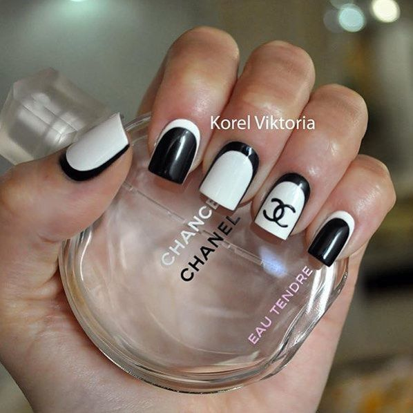 Best 25 chanel nails design ideas on pinterest chanel nail art chanel nails prinsesfo Image collections