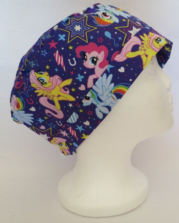 Scrub Hat Theatre Nurses Surgical Cap My Little by SnazzyScrubHats
