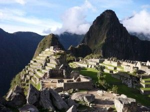 pôr do sol em Machu Picchu