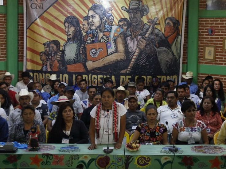 Maria de Jesus Patricio Martínez, vocera del Consejo Indígena de Gobierno