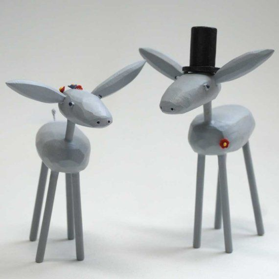 Deer Wedding cake toppers!!Grooms Donkeys, Brides, Wedding Cake