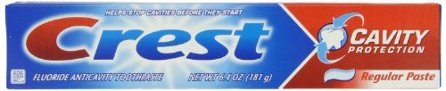 Crest Cavity Protection Toothpaste - Triple Pack 19.2 Oz, 0.000 Conversion not found - Crest Cavity Protection Toothpaste – Triple Pack 19.2 Oz, 0.000 Conversion not found  List Price: $6.96   Fights cavities on teeth and roots. Freshens breath. With clinically proven Flouristat.    List Price: $6.96 Your Price: $5.00-   Cavity protection toothpaste for your teeth and exposed roots. With regular brushing, Crest Cavity Protection Toothpaste will help protect cavities and