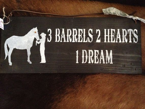 3 Barrels 2 Hearts 1 Dream ....Hand Painted by DixieCowgirls, $15.00